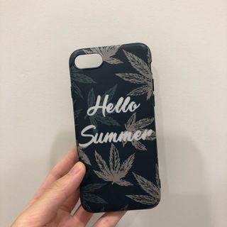 🚚 綠底 Hello Summer I7/8 4.7吋手機殼