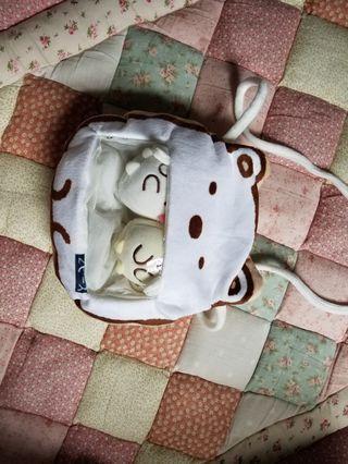 San - x 斜孭袋 小袋子 內有2粒公仔 特價