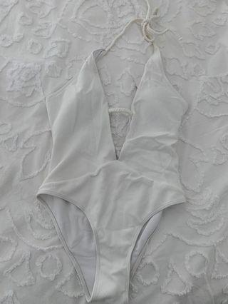 White bathers bodysuit