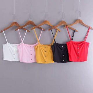Adjustable strap top