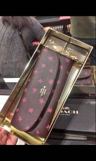 Coach 🌟 star starry night long wallet 全新星星長銀包 禮盒