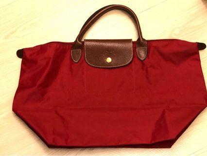 Longchamp 經典折疊包紅色