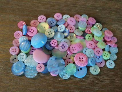 Various Pastel and glitter buttons