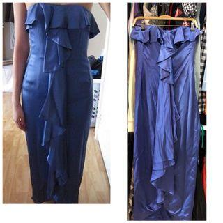 BNWT-waterfall maxi dinner gown in lily blue