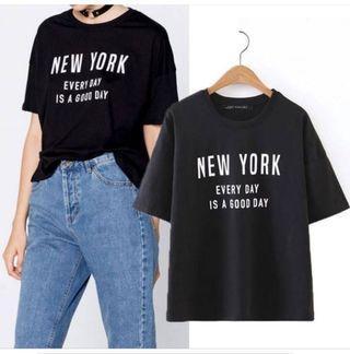 Kaos hitam New York