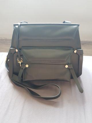 Savas Milano Leather Sling Bag