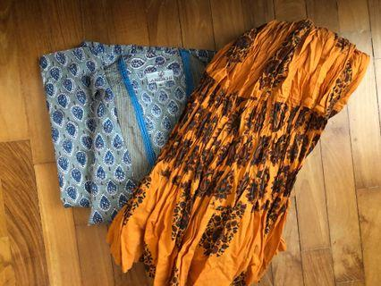 Bundle sale: Anoki block print cotton sari