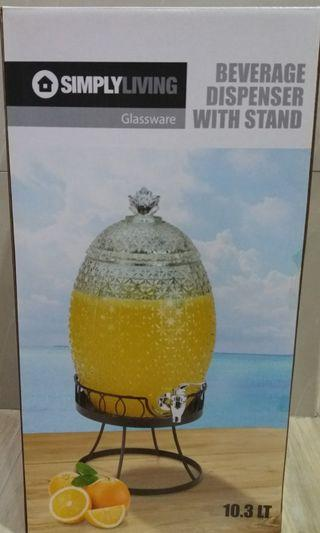 10.3l Glass Beverage Dispenser with Stand