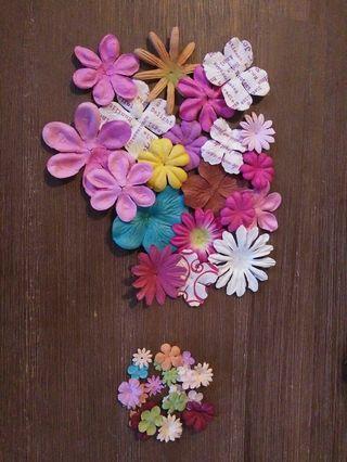 Various craft flowers