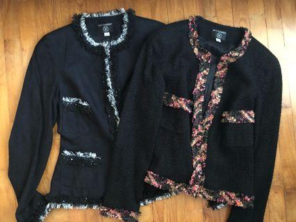 Bundle sale: two handmade Chanel style jackets