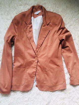 Cotton on brown blazer