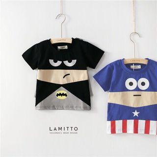 🎈立體造型純棉T恤 (蝙蝠俠/美國隊長)