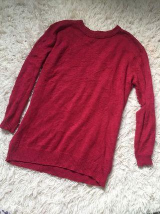 Pink reddish knitted top
