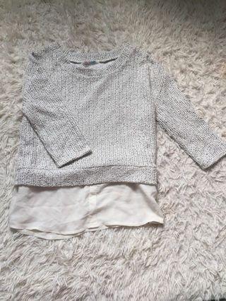 Tweed white top