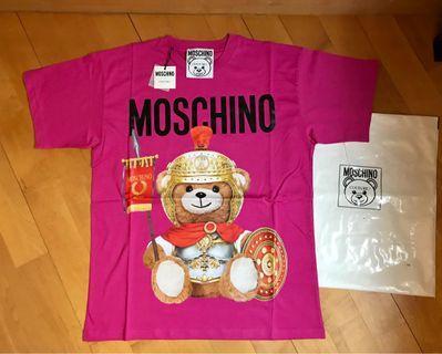 Moschino 新款 羅馬士兵🐻Tee ! 桃紅色!size Xs, S, M