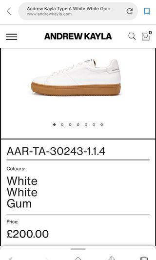 Andrew Kayla white leather sneakers