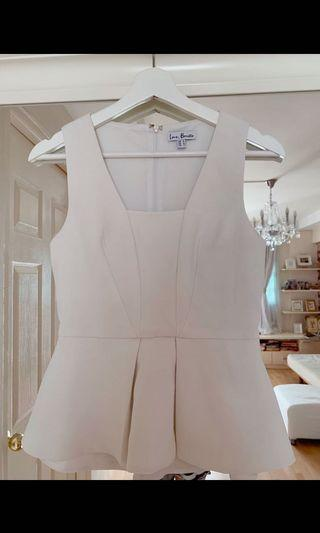 Love bonito white peplum top