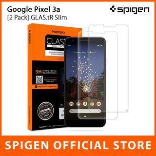 [2 Pack] Spigen Google Pixel 3a / 3a XL GLAS.tR Slim