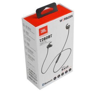 $399 JBL T280BT 無線藍牙耳機運動入耳式頭戴掛耳耳塞帶麥跑步專用防水通用