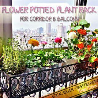 PLANT FLOWER POT BALCONY AND RAILING HANGING RACK