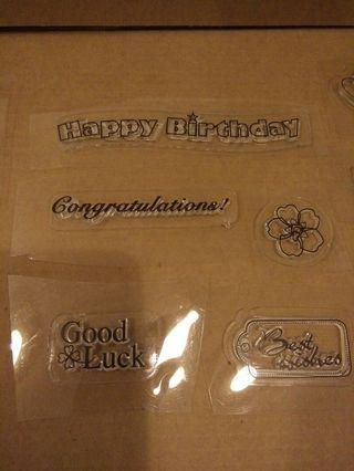 15 x clear stamps