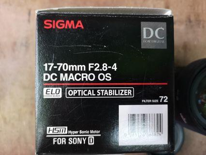 Sigma 17-70mm f2.8-4 dc macro os for sony