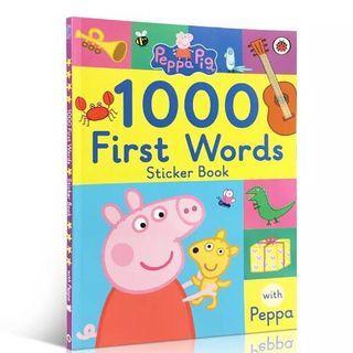 🔥大熱🔥🐷英文Peppa's Pig 1000 First words Stickers Book貼紙書😍 📚