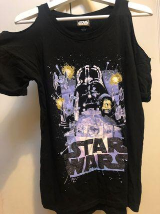 Cotton On x Star Wars cold shoulder top . Wore once excellent condition like new