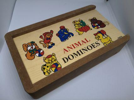 WODEN DOMINOES ANIMAL inc pos