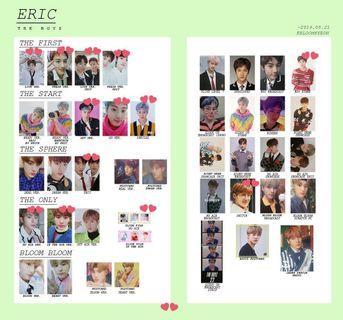 THE BOYZ ERIC PHOTOCARDS 2017~2019