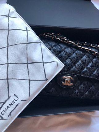 巴黎帶回全新Chanel cf小羊皮中號