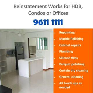 Reinstatement works for HDB, Condos and Offices