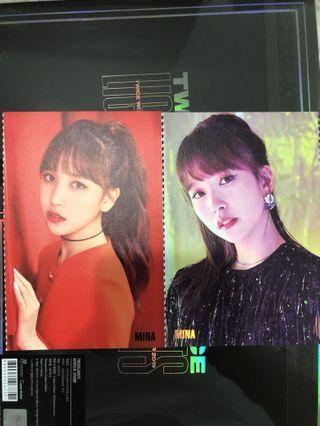 WTS Twice Mina Twicelights Accordion postcard