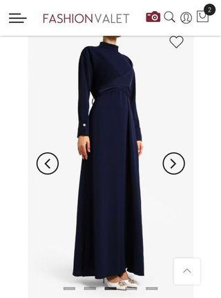 LILIT Kak Ngah Dress in Navy Blue
