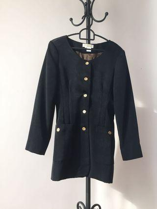 (M) Women Formal Black Coat