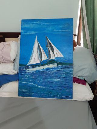 Painting- Sailing in Auckland