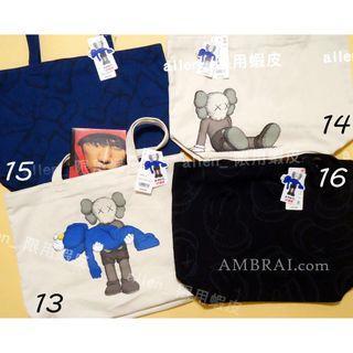 【AMBRAI.com】 UNIQLO x KAWS 聯名 托特包 包包 背包 手提包 購物袋 提袋 UT Logo 黑