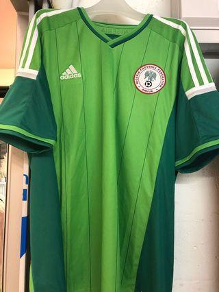 尼日利亞國家隊2014年主場短袖日本加大碼全新連牌