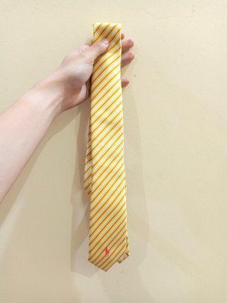 Tie Dasi Formal Ukuran Sedang Polo Ralph Lauren, Warna Kuning Garis-Garis