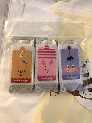 日本迪士尼商店 小熊維尼系列濕紙巾