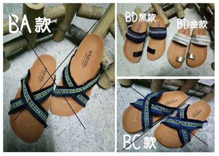 🚚 現貨)降價!泰國勃肯🇹🇭拖鞋 剩復古圖騰黑 36號
