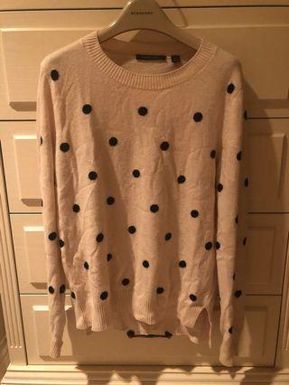 Polka Dot Wool Jumper