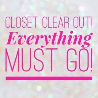 Homebased closet clear out sale!!