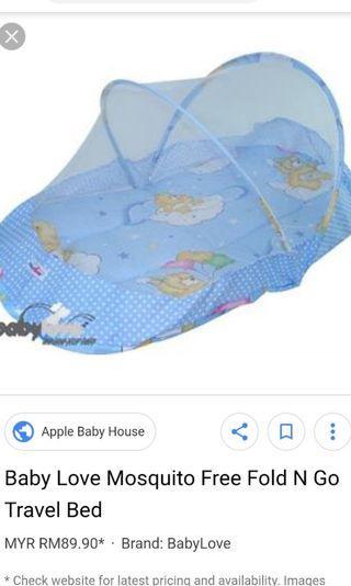 Baby love Mosquito net travel mattress
