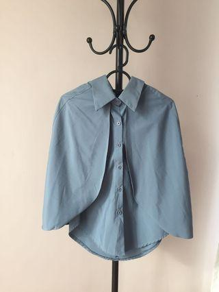(M-S) Blue Caped Top