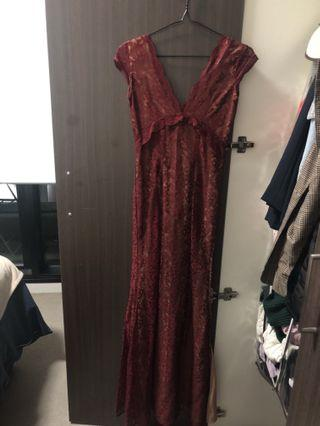 Lace formal maxi dress size 6