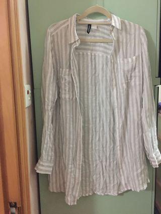 直間上衣 灰白 恤衫 外套 grey