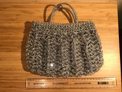 Anteprima 銀色珠片Wirebag 手袋