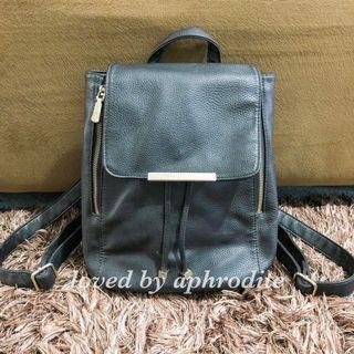 Backpack Black Branded FLADEO