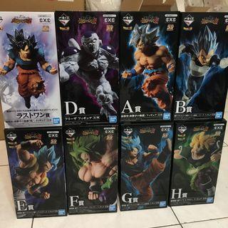 七龍珠 一番賞 日版金證 超戰士列傳 8隻 合售 布羅利 孫悟空 貝吉塔 悟吉塔 達爾 悟達爾 佛利沙